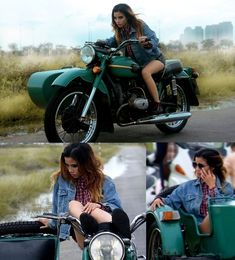 Sidecars- Lets see em. Russian Motorcycle, Ural Motorcycle, Motorbike Girl, Bobber, Bike With Sidecar, Car Girls, Motorbikes, Chevy, How To Memorize Things