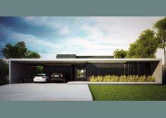 Amado Cattaneo Arquitectos - Casa estilo actual racionalista…