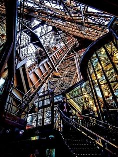 A look at the interior of the Eiffel Tower
