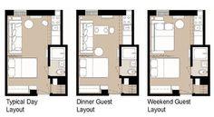 Small Studio Apartment Layout Ideas