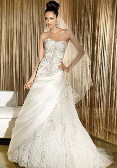 Demetrios wedding gowns & dresses makes luxury affordable. Explore all of our wedding gowns & evening dresses collections and find a store near you. Wedding Dresses Photos, Wedding Dress Styles, Bridal Dresses, Wedding Gowns, Tulle Wedding, Strapless Gown, Just In Case, Designer, One Shoulder Wedding Dress