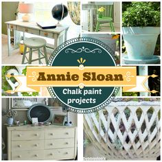 #AnnieSloan #chalkpaint projects. Some amazing before and after furniture makeovers.  You can transorm just about anything, with no prep, no prime, no sanding.
