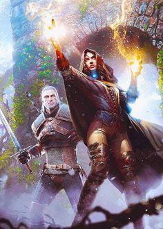 Witcher 3: Wild Hunt Promo Art by Grzegorz Rutkowski