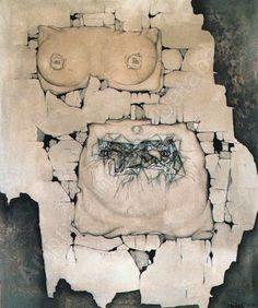 MIKULÁŠ MEDEK: VYHŘEZLÁ MATKA / 1949 Portraits, Ap Art, Figure Painting, Figurative, Surrealism, Modern Art, Vintage World Maps, Abstract, Artist