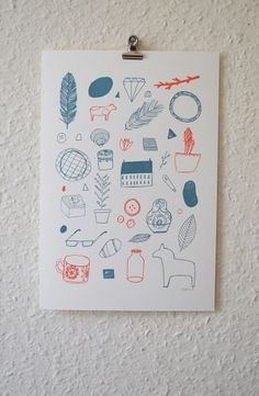 Gocco Prints About Today Illustration by Lizzy Stewart in Illustration