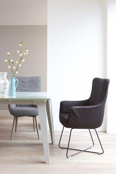 Label | Dining Chair Chief  #leather #Soft #naturel #furniture #design #kokwooncenter