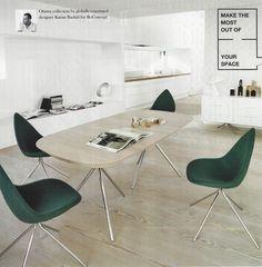 Minimal White interior dining