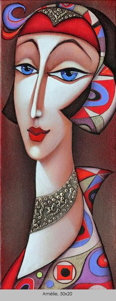 ~ by Wlad Safronow, Ukranian artist, born 1965 in Kharkov, Ukraine. Art And Illustration, Hirsch Illustration, Figurative Kunst, Art Visage, Face Art, African Art, Painting & Drawing, Modern Art, Pop Art