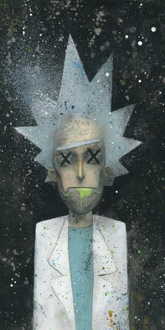 When artists pay tribute to Rick and Morty, the most brilliant cartoon of recent years, maybeever! The Gallery1988 in Los Angeles has just inaugurated a group