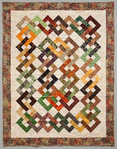 Beautiful Island Chain quilt.