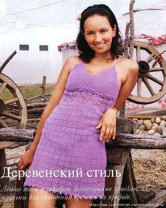 TRICO y CROCHET-madona-mía: Vestido blanco de verano a crochet con patrón