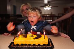 JJ Blowing Out Birthday Candles by Pink Sherbet Photography, via Flickr