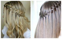 Прическа с плетением косы Водопад
