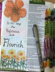 Psalm 72:7 Daily Life - Bits & Pieces: Bible Journaling Word Challenge