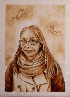 Портрет написанный кофе 21х30 «Александра» | Andrew Pugach