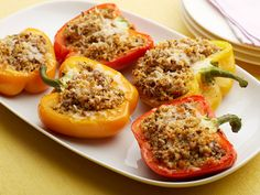 Sweet and Sour Couscous-Stuffed Peppers : Fill colorful (and antioxidant-rich) bell peppers with lean ground beef, whole-wheat couscous and a mix of vegetables and herbs for a healthy and satisfying meal.