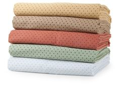 Elite Home Products Carlton Dot 300 Thread Count Cotton Sheet Set - Bed Sheets at Hayneedle