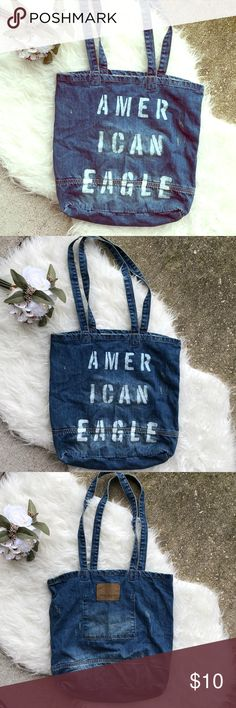 American Eagle Jean Tote New without tags Jean tote in perfect unused condition! American Eagle Outfitters Bags Totes