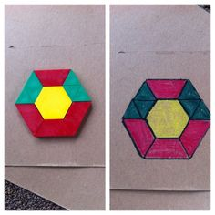 DIY pattern block cards! Super easy! Can't wait to see the kids work on them