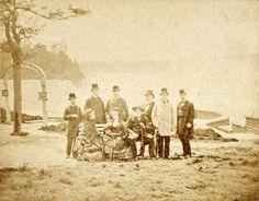 PedroII (seated, right) at Niagara Falls, 1876