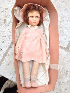 French felt Raynal doll in box