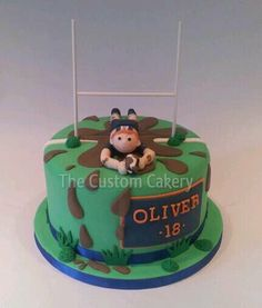 Rugby 18th - by Mellie @ CakesDecor.com - cake decorating website