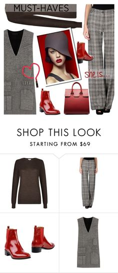 """Untitled #1037"" by valentina1 ❤ liked on Polyvore featuring Hobbs, Armani Collezioni and Alexander Wang"