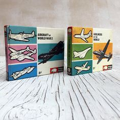 Two vintage Hippo book of Airlines of the World and Aircraft