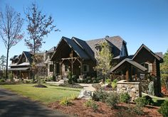 Wild Turkey Lodge - Portfolio - Modern Rustic Homes Cabins In The Woods, House In The Woods, Log Home Living, Log Home Designs, Sweet Home, Modern Rustic Homes, Timber House, Log Homes, My Dream Home