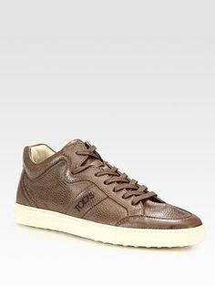 Tod's Pebbled Leather Sneaker