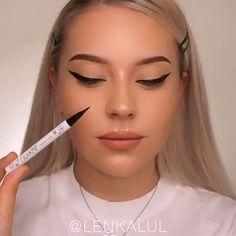 How To Apply Liquid Foundation Eyeliner, , Makeup 101, Makeup Goals, Skin Makeup, Makeup Inspo, Makeup Brushes, Beauty Makeup, Daily Makeup, Makeup Products, Hair Beauty