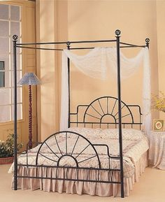 Queen Canopy Bed Curtains romantic canopy beds |  romantic wrought iron beds, canopy beds