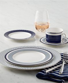 kate spade new york Mercer Drive Platinum Collection - Dinnerware - Dining & Entertaining - Macy's