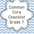 FREE - Download a free grade 7 Common Core checklist! Everyone needs a good freebie for filling their 2013-2014 teacher binders!