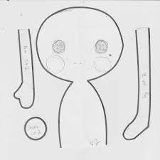 Resultado de imagem para simple doll pattern