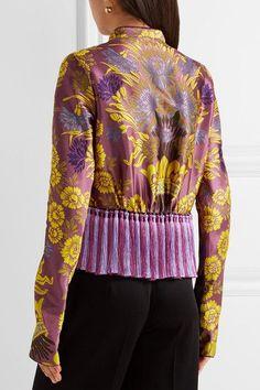 Etro - Tassel-trimmed Floral-jacquard Jacket - Violet - IT