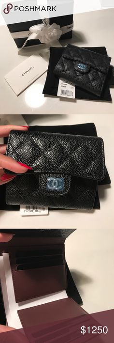 68bfeac40c7 Brand New Chanel Classic Flap Wallet. Caviar. HTF Brand new