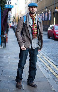 Men's Fashion Men's Fashion Articles and Men's Fashion Tips For 2013 Tweed Blazer, Tweed Jacket, Grey Hair Men, Flat Cap, Flats Outfit, Fashion Articles, Sharp Dressed Man, Men Style Tips, Grey Cardigan