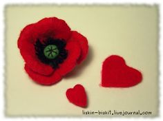 wet felted poppy tutorial