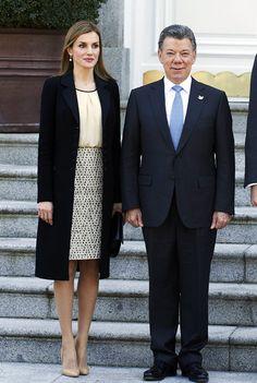 La Reina y la Primera Dama de Colombia, duelo de elegancia en Palacio