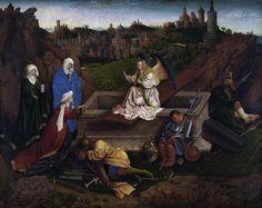 Три Марии у гроба Господня (или Хуберт ван Эйк). Ян ван Эйк