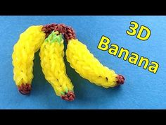 Rainbow Loom Charms: 3D BANANA Charm || loom bands tutorial / design / i...