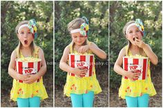 children's photography | circus themed session | carnival | little girl | birthday | lollipop | popcorn