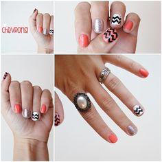 Chevron Fingernail Stickers by stickitvinyl on Etsy