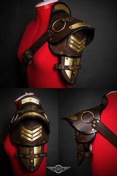 Steampunk shoulder pad final by LahmatTea armor