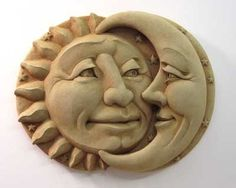 Large Celestial Attraction -- Carruth Studio: Waterville, OH Sun Moon Stars, Sun And Stars, Chip Carving, Wood Carving, Sand Sculptures, Sculpture Art, Sun Art, Moon Design, Clay Projects