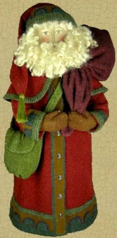 penny rug santa from The Merry Hooker Woolens