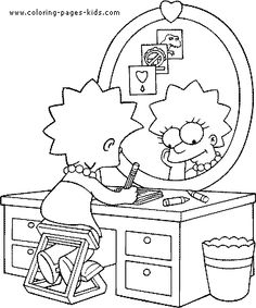 Simpsons color page cartoon characters coloring pages, color plate, coloring sheet,printable coloring picture