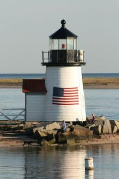 Brant Point Lighthouse, Nantucket, Massachusetts by Divonsir Borges