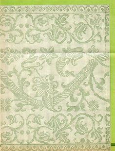 Blackwork, Cross Stitch Patterns, Crochet Patterns, Filet Crochet, Crochet Edgings, Crochet Tablecloth, Black Rings, Cross Stitching, Doilies